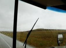 The rain fell constantly 'til Casper, Wyoming.