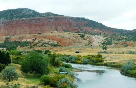 The North Platte River along WY220.