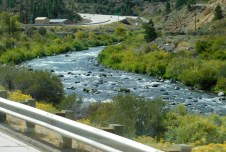 I-80 follows the very scenic Truckee River for miles.