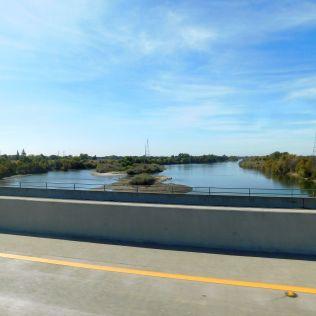Crossing the Feather River in Sutter County en route to Yuba City.