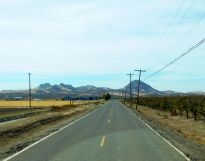 The smallest mountain range on the planet, the Sutter Buttes.