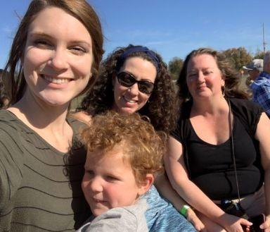 Kyleigh, Ceddie, Jill and Diane at the pumpkin patch.