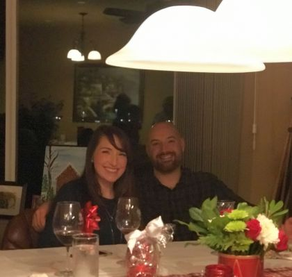 Our newlyweds, Stephanie and Sam!