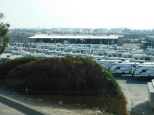 This was one of several large RV dealers in the Fresno area. Who buys all those things?!
