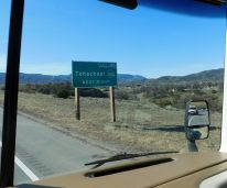 Tehachapi is a city near the summit of the Tehachapis at nearly 4000 feet.