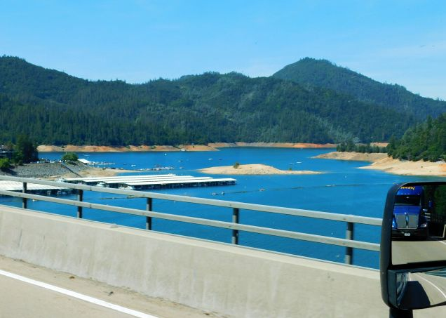 Lake Shasta as beautiful as ever, but pretty low for June.