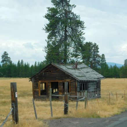 If only old houses could talk, I'd bet this old cabin near Jill & Craig's would have some great stories.