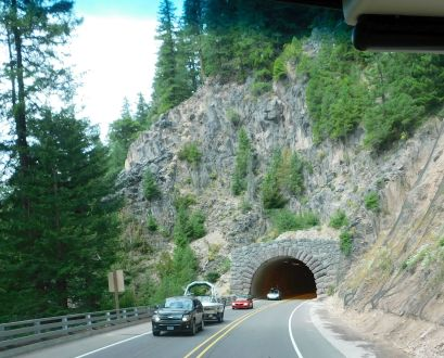 A tunnel along beautiful OR58.
