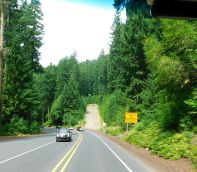 With lots of steep grades, there were two of these runaway truck ramps.