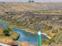The snake River which makes irrigation possible in much of the Idaho we saw.