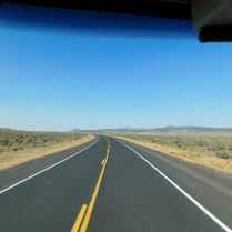 Wide open and wonderful US20 in Oregon's high Desert.