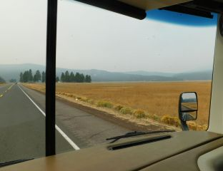 ...and here's some of the picturesque grassland in early fall when it's dry and brown.