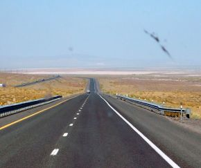 More wide open highway with lots of elbow room. Wonderful.