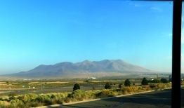 I always have to shoot this very picturesque mountain called, I believe, Winnemucca Mountain.