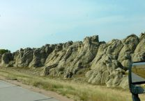 """A natural """"fort"""" along I-25. Back in 1831 two warring Indian tribes fought it out here, and many died."""
