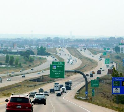 I-25 traffic was much worse than this most of the drive. It was typical heavy Friday traffic near a major city.