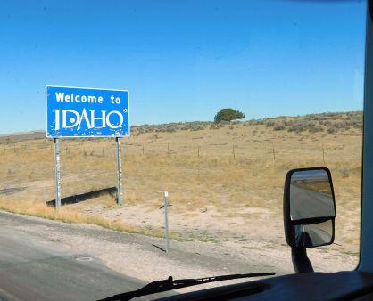 We were welcome in Idaho.