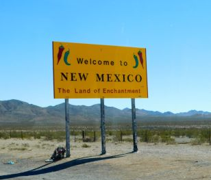 I was welcomed into New Mexico.