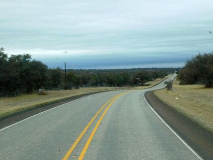 This photo along US190 captures what I love so much about Texas back roads. Solitude! Open space! The beautiful outdoors!