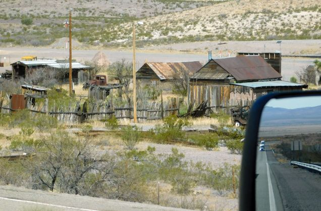 Were these old motel cabins? A long abandoned labor camp? Just old stores? It's interesting to speculate.