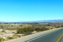 The desert town of Needles lies in the distance, and so does I-40.
